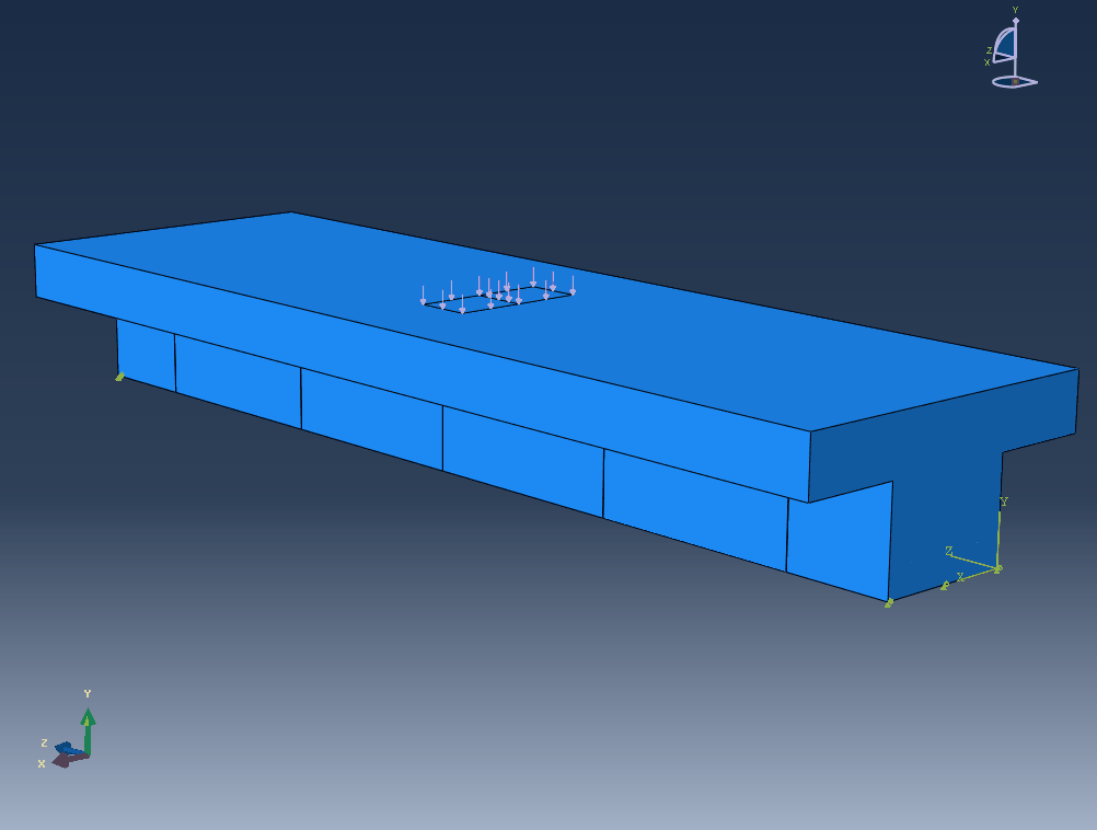 3D Abaqus Beam View